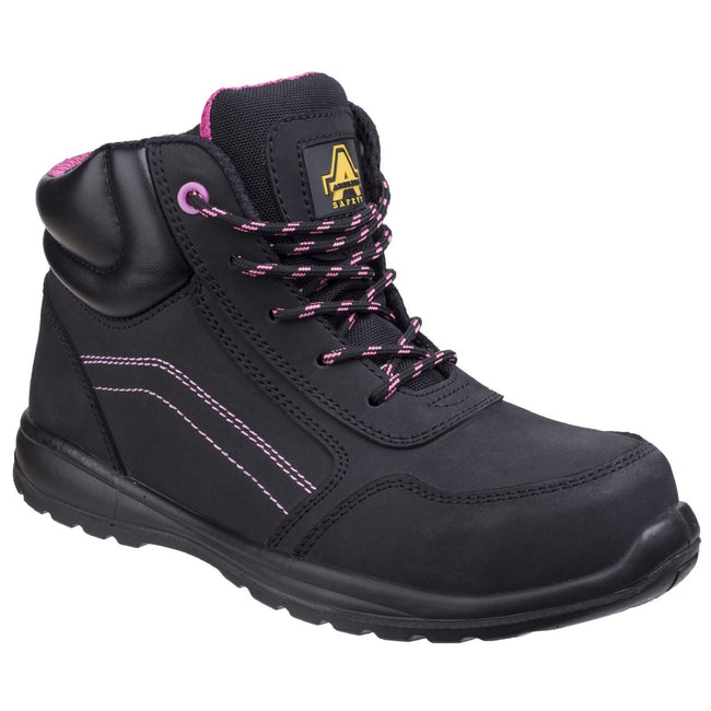 Black - Front - Amblers Safety Womens-Ladies Composite Safety Boots With Side Zip