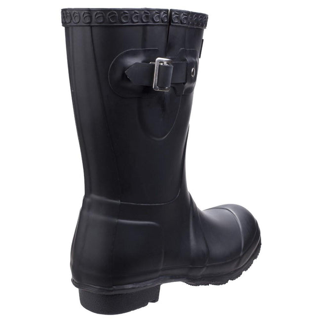 Black - Lifestyle - Cotswold Womens-Ladies Windsor Short Waterproof Pull On Wellington Boots