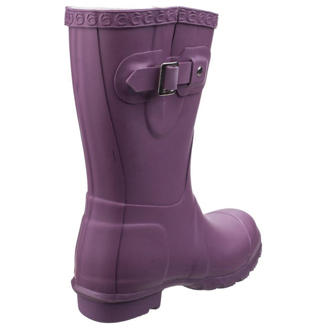 Purple - Lifestyle - Cotswold Womens-Ladies Windsor Short Waterproof Pull On Wellington Boots