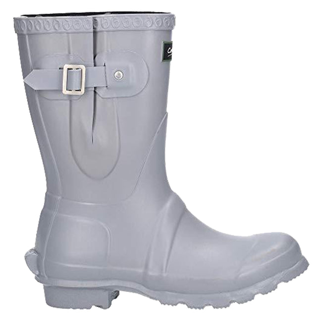 Slate - Front - Cotswold Womens-Ladies Windsor Short Waterproof Pull On Wellington Boots