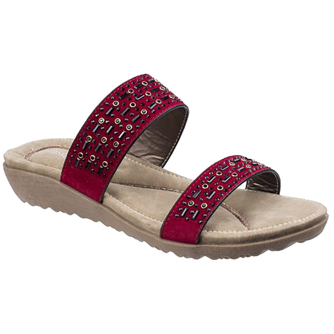 Red - Front - Fleet & Foster Women-Ladies Parisio Sandals