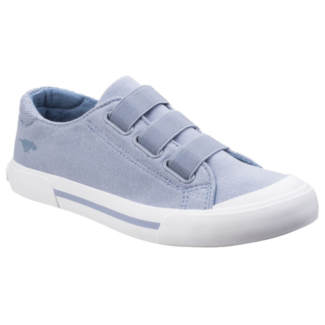 Sky Blue - Front - Rocket Dog Womens-Ladies Jamaica Cloud 9 Slip On Trainers