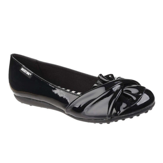 Black Gloss - Side - Rocket Dog Womens-Ladies Risky Slip On Ballerina Pump Shoes