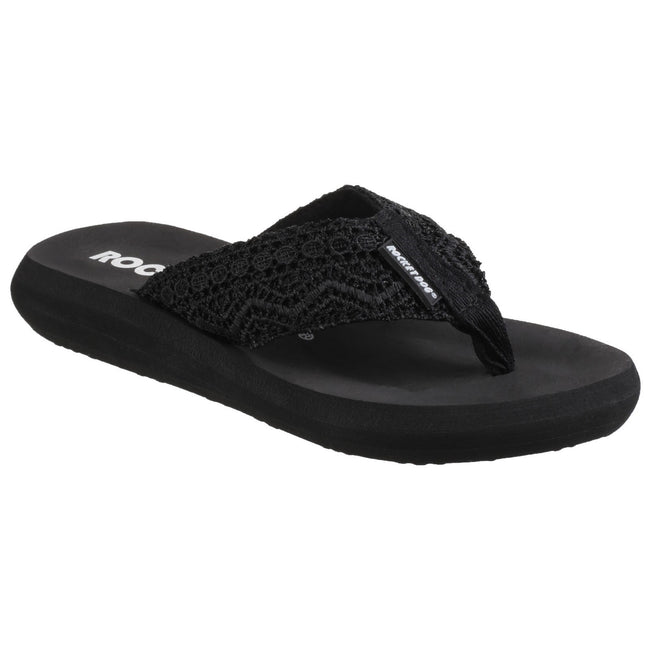 Black - Front - Rocket Dog Womens-Ladies Spotlight Slip On Sandals