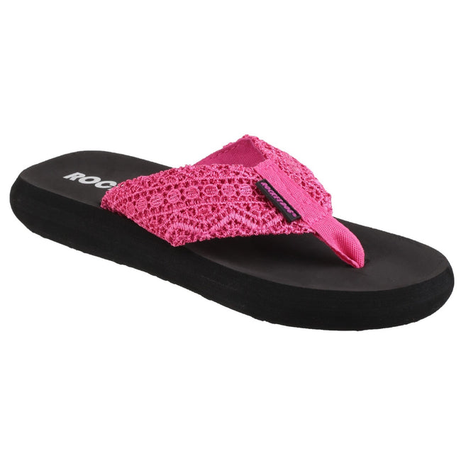 Pink - Front - Rocket Dog Womens-Ladies Spotlight Slip On Sandals