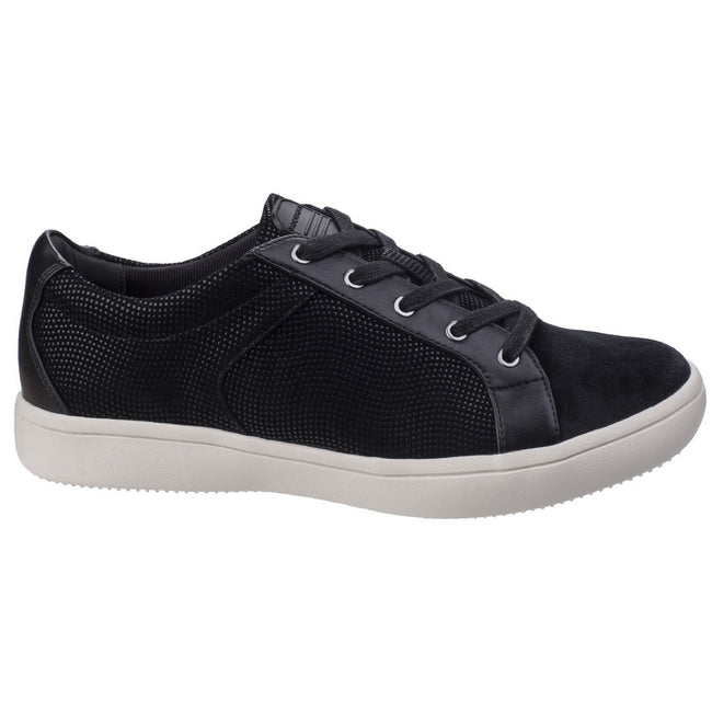 Black - Back - Rockport Womens-Ladies Ariell Leather Lace Trainers