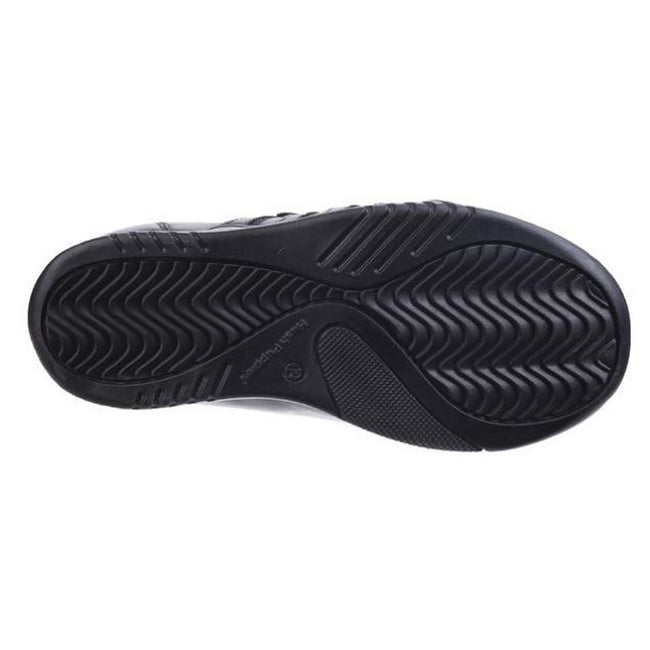 Black - Lifestyle - Hush Puppies Childrens-Boys Josh Jnr Touch Fastening Leather Shoes