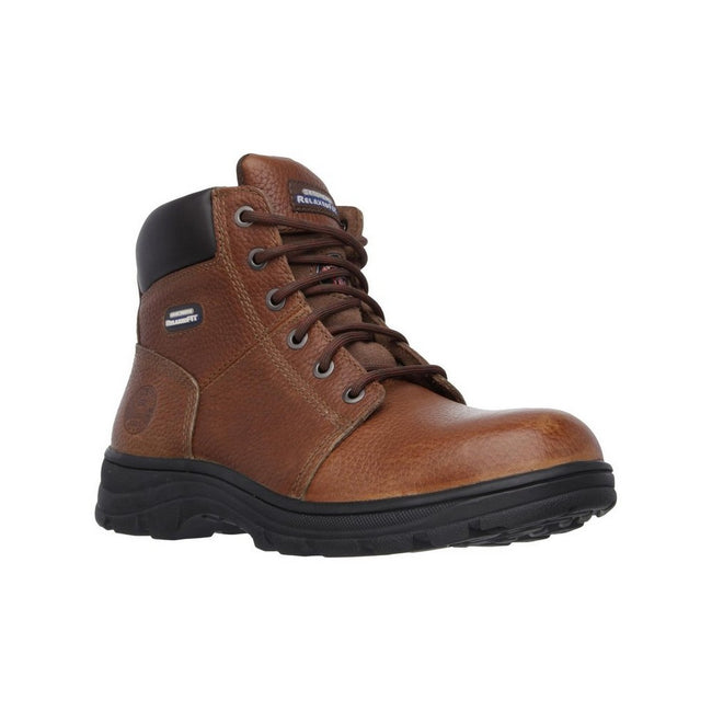 Brown - Front - Skechers Mens Workshire Safety Boots