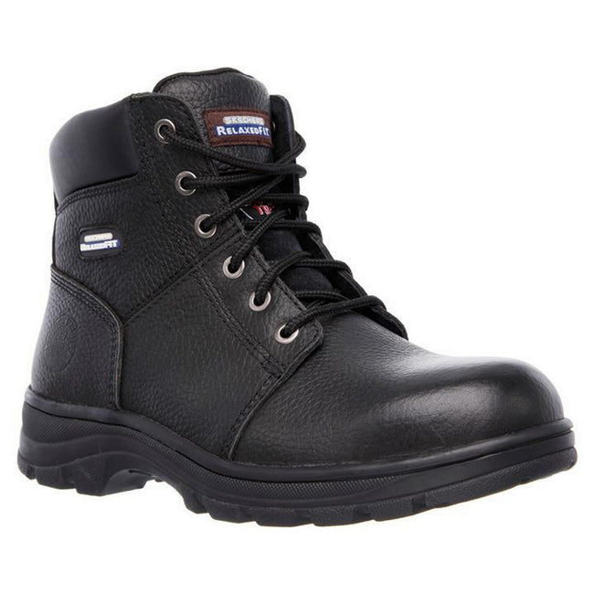 Black - Front - Skechers Mens Workshire Safety Boots