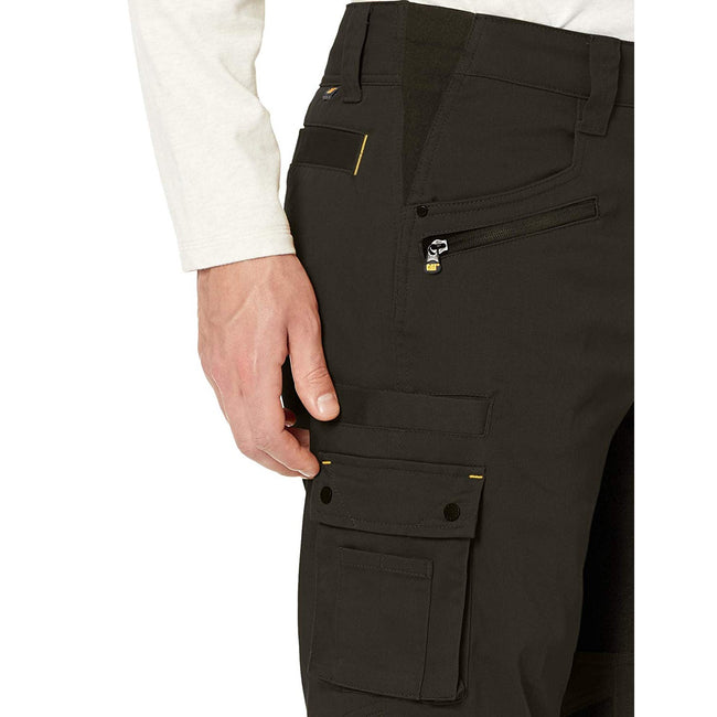 Black - Side - Caterpillar Mens Operator FX Work Trousers
