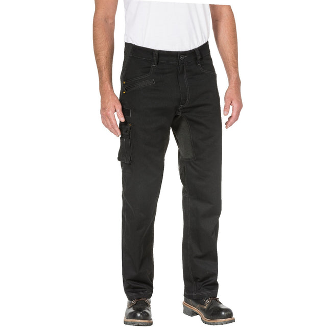 Black - Front - Caterpillar Mens Operator FX Work Trousers