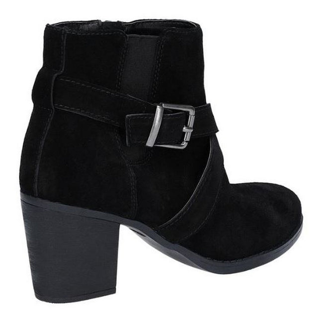 Black - Back - Hush Puppies Womens-Ladies Shilo Heeled Boot