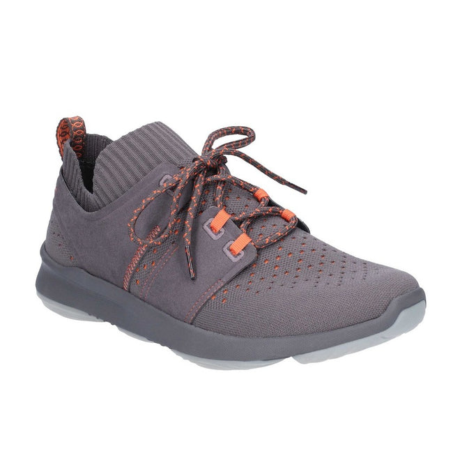 Dark Grey - Front - Hush Puppies Mens World Lace Up Trainers