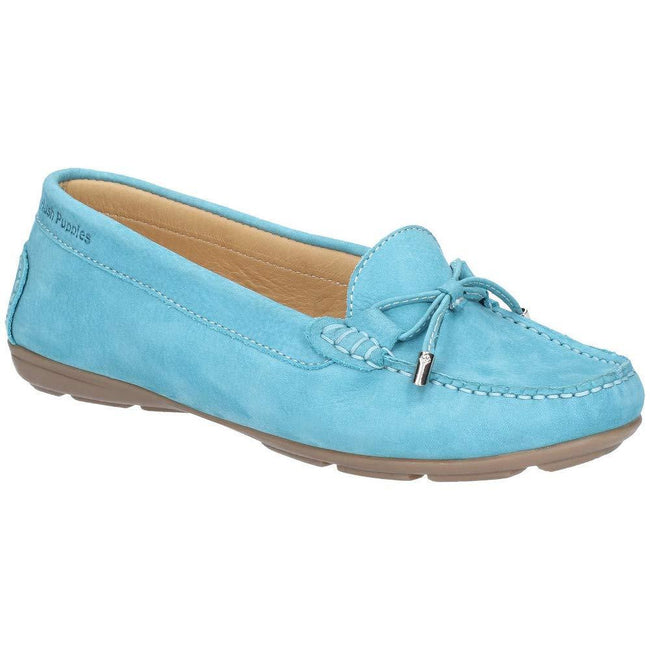 Teal - Front - Hush Puppies Womens-Ladies Maggie Toggle Leather Shoe