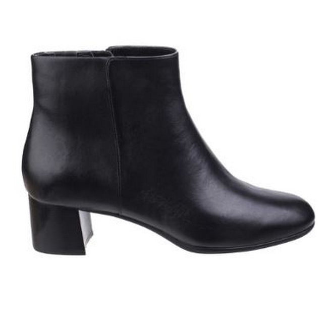 Black - Back - Rockport Womens-Ladies Total Motion Novalie Leather Ankle Boot