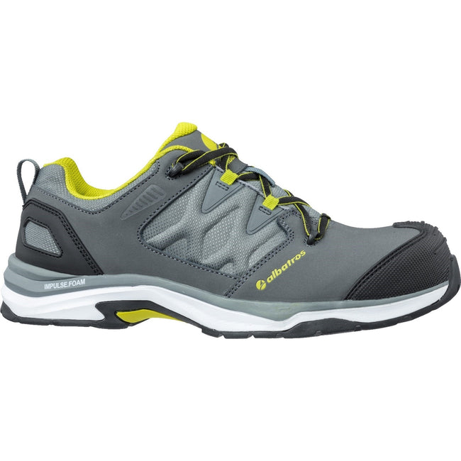 Grey-Combined - Side - Mens Leather Ultratrail Low Lace Up Safety Shoe