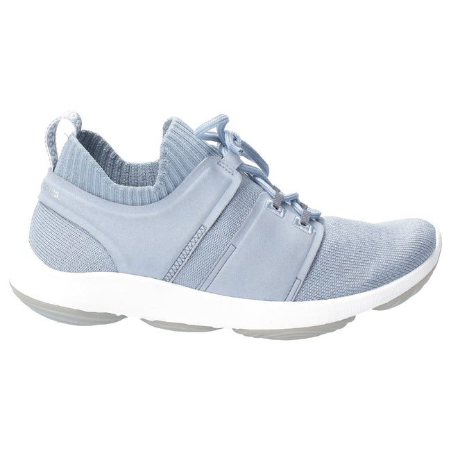 Dusty Blue - Back - Hush Puppies Womens World BounceMax Lace Up Trainer