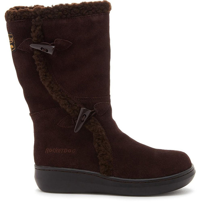 Chocolate Brown - Back - Rocket Dog Womens-Ladies Slope Mid Calf Winter Boot