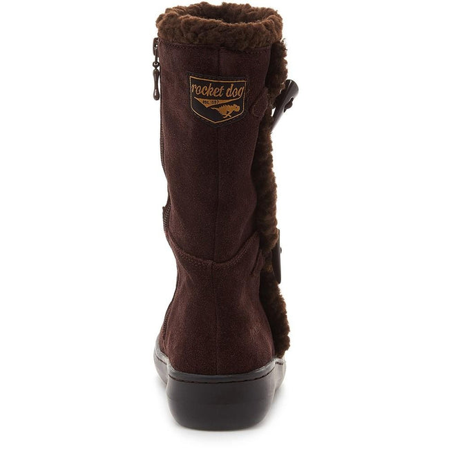Chocolate Brown - Side - Rocket Dog Womens-Ladies Slope Mid Calf Winter Boot