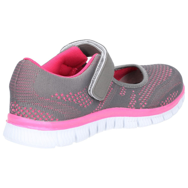 Grey-Fuschia - Lifestyle - Caravelle Womens-Ladies Sporty Casual Shoe