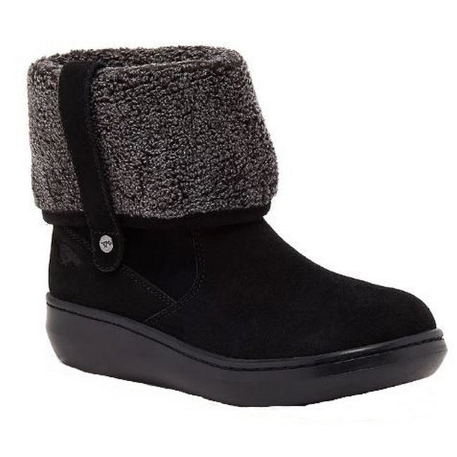 Black - Front - Rocket Dog Womens-Ladies Sugar Mint Suede Ankle Winter Boot
