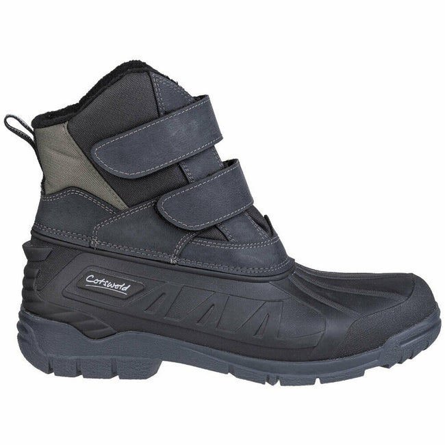 Black - Back - Cotswold Mens Kempsford Hybrid Wellington Boot