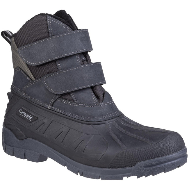 Black - Front - Cotswold Mens Kempsford Hybrid Wellington Boot