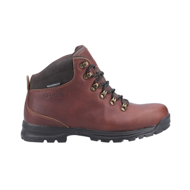 Brown - Back - Cotswold Kingsway Mens Lace Up Leather Hiking Boot