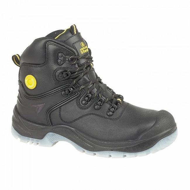 Black - Front - Amblers Steel FS198 Safety Boot - Womens Ladies Boots - Boots Safety