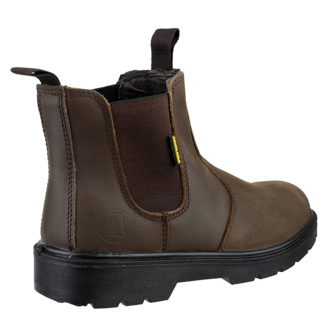 Brown - Back - Amblers Steel FS128 Boot - Womens Ladies Boots