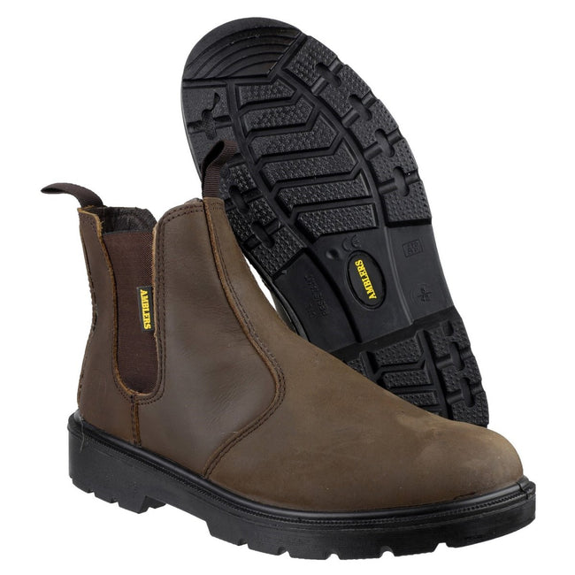Brown - Lifestyle - Amblers Steel FS128 Boot - Womens Ladies Boots
