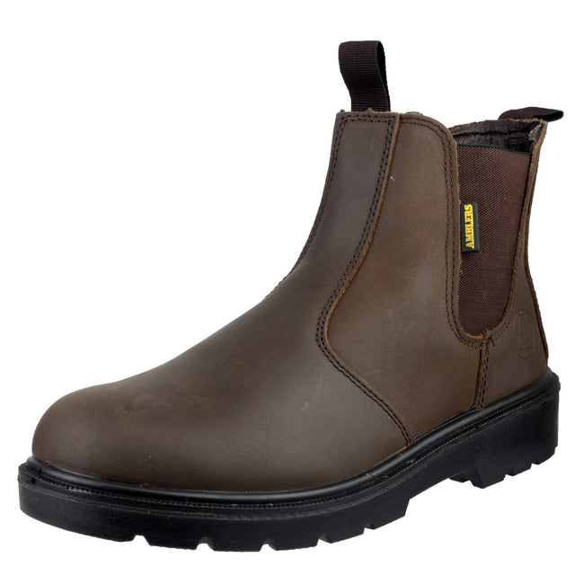 Brown - Pack Shot - Amblers Steel FS128 Boot - Womens Ladies Boots