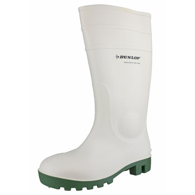 White - Side - Dunlop FS1800-171BV Wellington - Womens Boots - Safety Wellingtons
