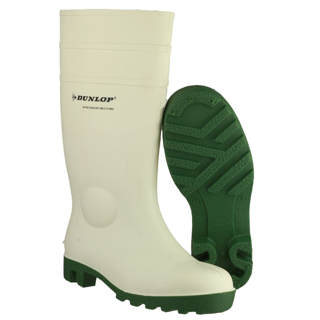 White - Pack Shot - Dunlop FS1800-171BV Wellington - Womens Boots - Safety Wellingtons