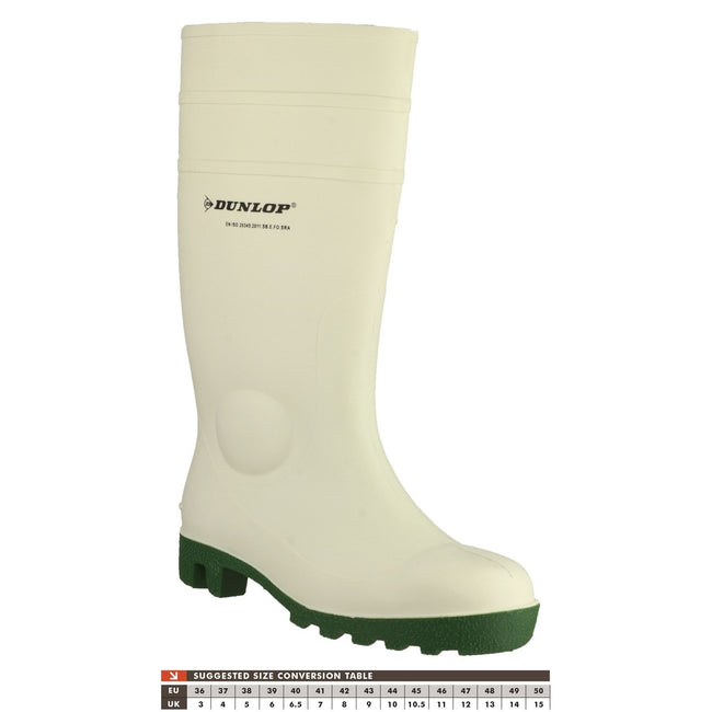 White - Close up - Dunlop FS1800-171BV Wellington - Womens Boots - Safety Wellingtons