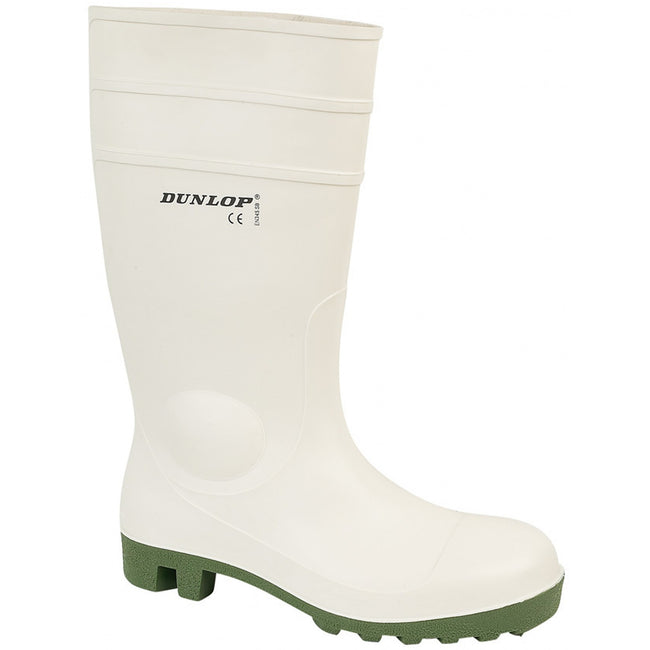White - Front - Dunlop FS1800-171BV Wellington - Womens Boots - Safety Wellingtons