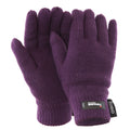 Purple - Front - FLOSO Ladies-Womens Thinsulate Thermal Knitted Gloves (3M 40g)