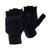 Navy - Front - FLOSO Mens Plain Thermal Winter Capped Fingerless Gloves