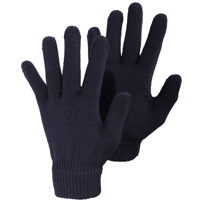 Navy - Front - Ladies-Womens Plain Winter Magic Gloves