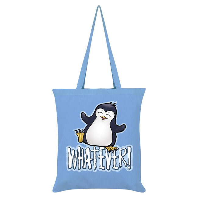 Sky Blue - Front - Psycho Penguin Whatever Tote Bag