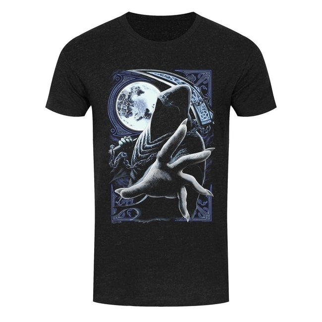 Black - Front - Requiem Collective Mens Enslaved Reaper T-Shirt