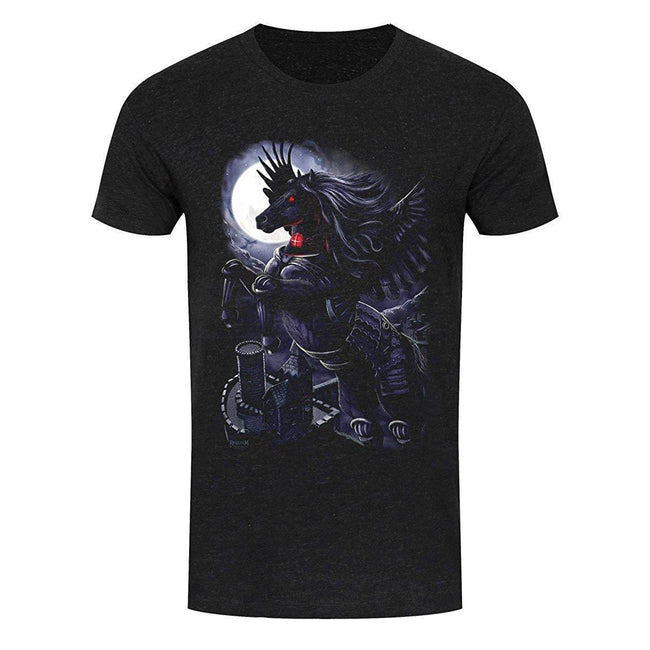 Black - Front - Requiem Collective Mens Prince Of Demons T-Shirt