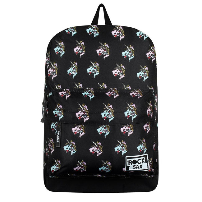 Black - Front - RockSax Unicorn Backpack