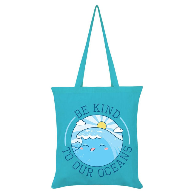 Blue - Front - Grindstore Be Kind To Our Oceans Tote Bag