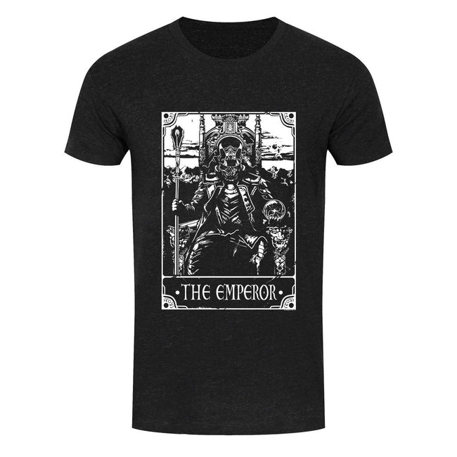 Heather Black - Front - Deadly Tarot Mens The Emperor T Shirt