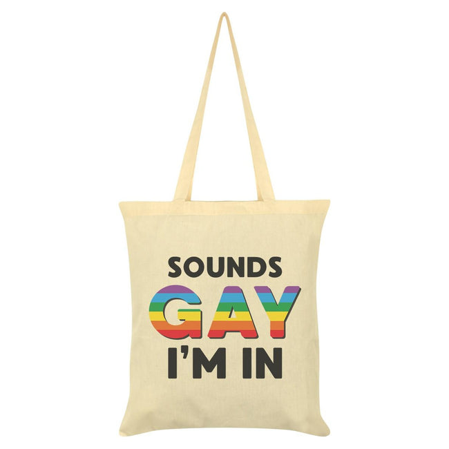 Cream - Front - Grindstore Sounds Gay Im In Tote Bag