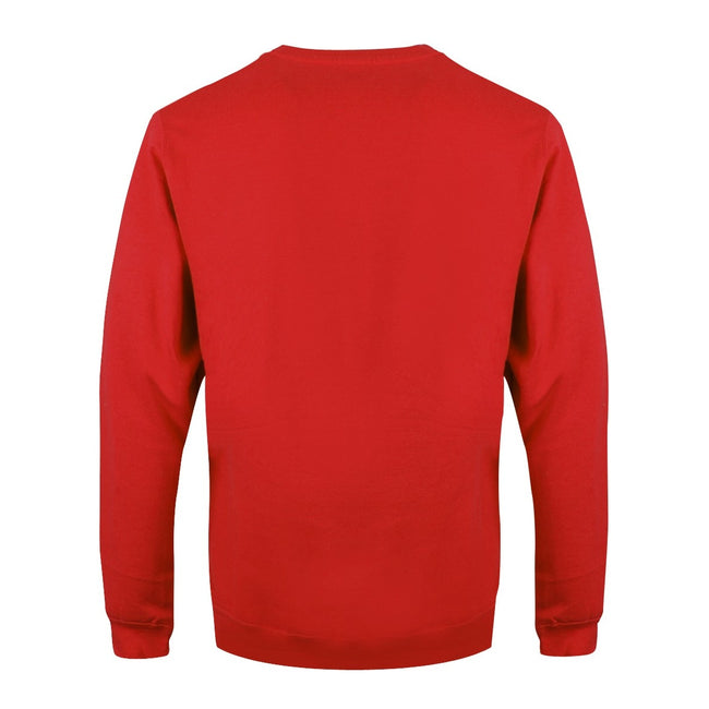Red - Back - Grindstore Mens Oh My Christ Pam Christmas Jumper