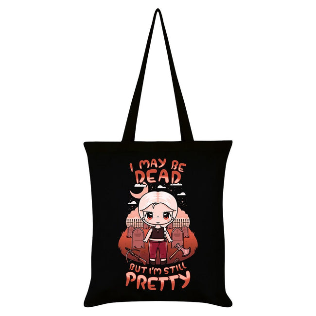 Black-Orange - Front - Mio Moon I May Be Dead But Im Still Pretty Tote Bag