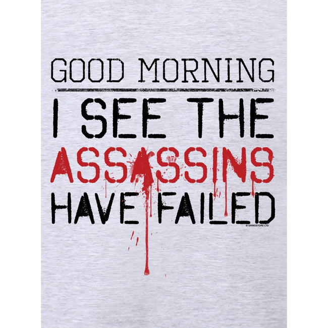 Grey - Side - Grindstore Mens The Assassins Have Failed T-Shirt