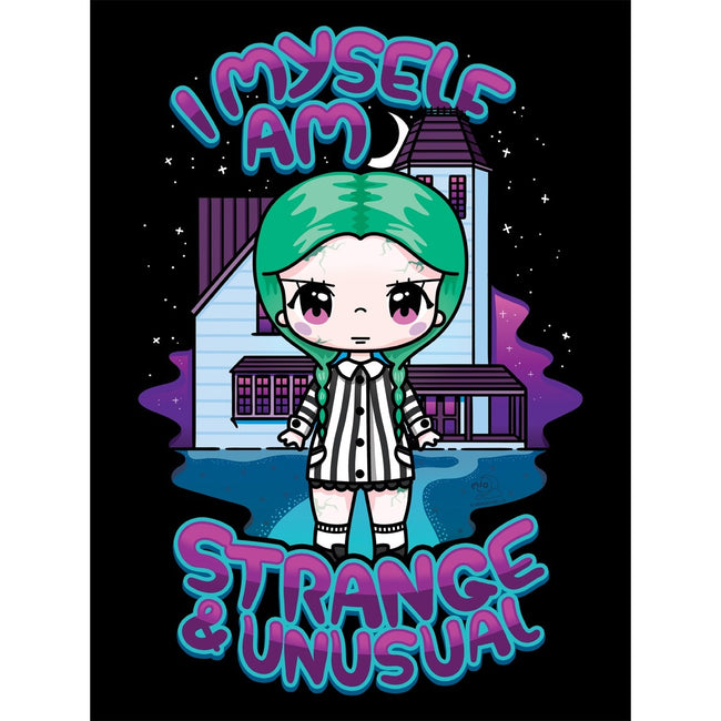 Black - Side - Mio Moon I Myself Am Strange & Unusual Tote Bag